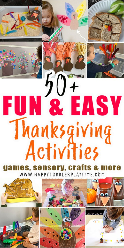 easy thanksgiving activities for toddlers and preschoolers