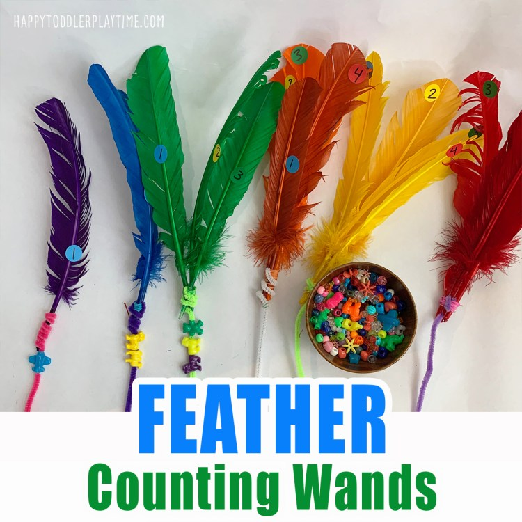 feather counting wands