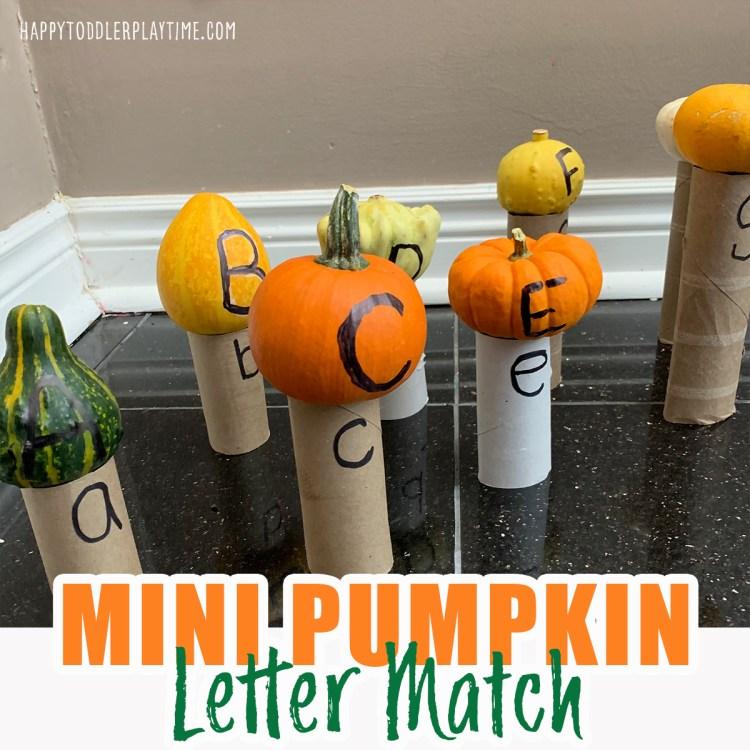 mini pumpkin letter match fall halloween activity