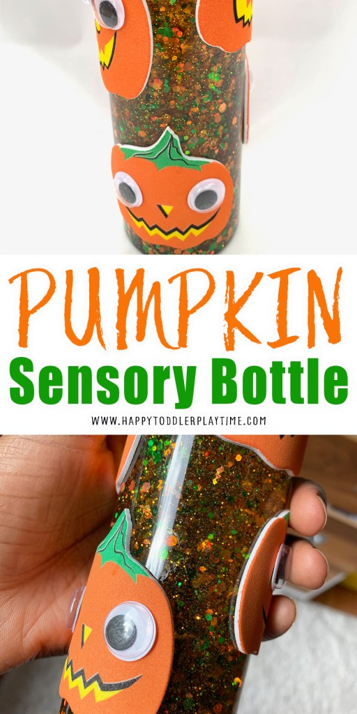 pumpkin sensory bottle craft