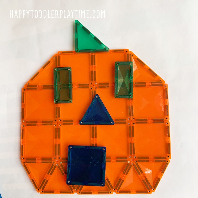 pumpkin faces for toddlers and preschoolers