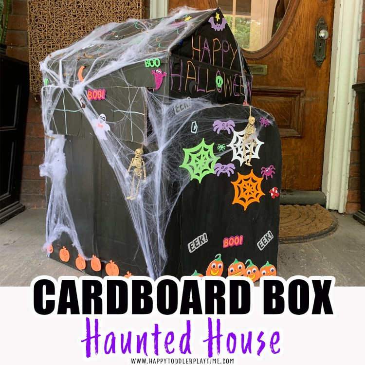 cardboard box haunted house