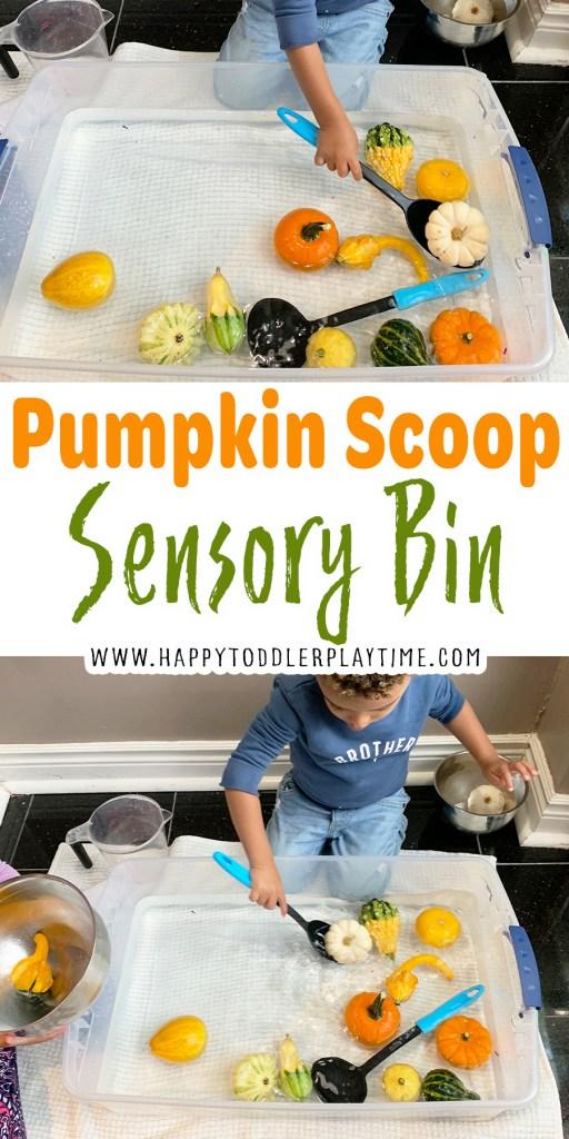 Pumpkin Scoop Sensory Bin