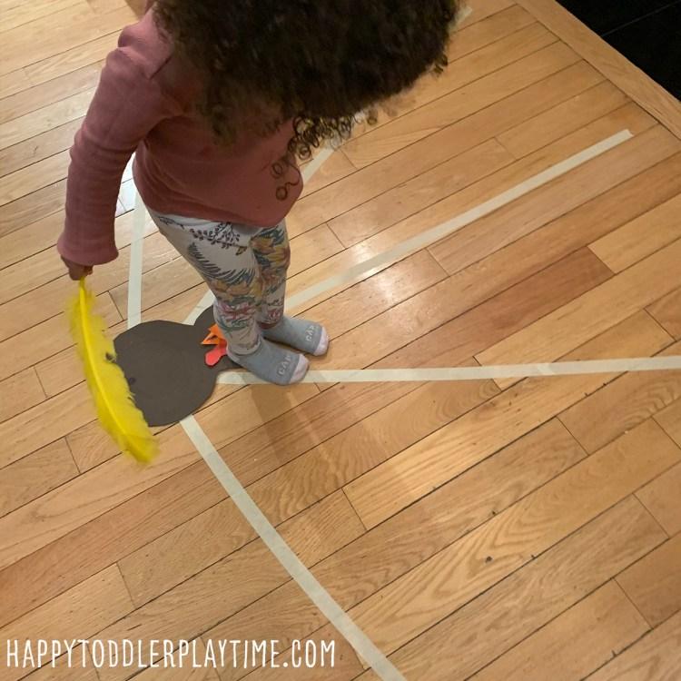 Turkey Balancing Activity for Toddler