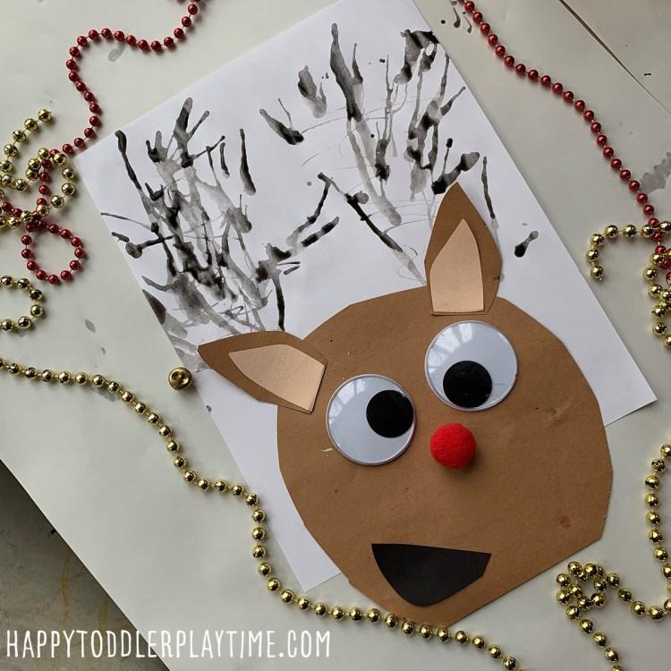 Blow Painted Reindeer Craft