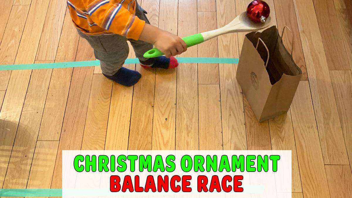 Christmas Ornament Balance Race