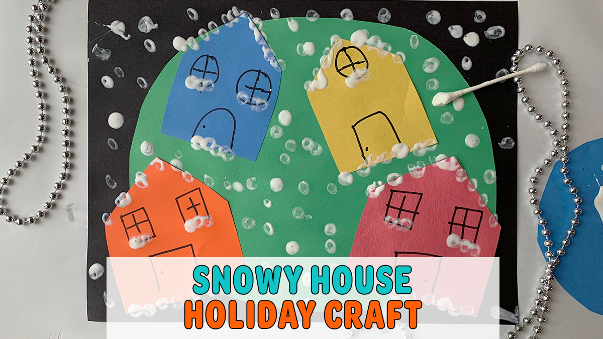 Snowy Houses Holiday Craft for Toddlers