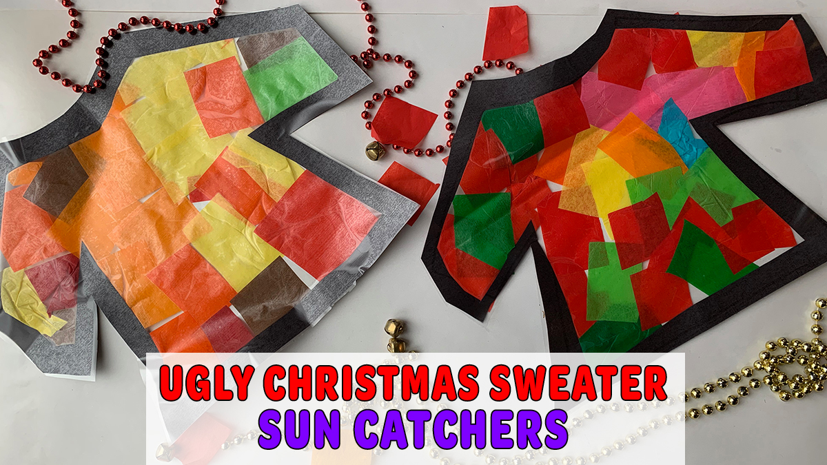 Ugly Christmas Sweater Sun Catchers
