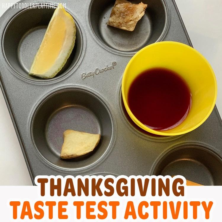 Thanksgiving Taste Test Activity for Kids