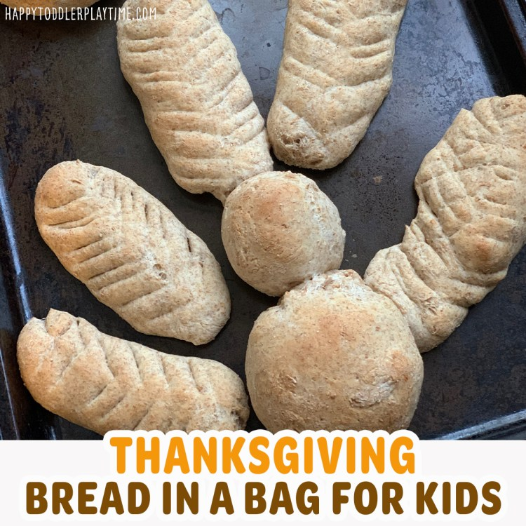 bread in a bag thanksgiving activity for kids