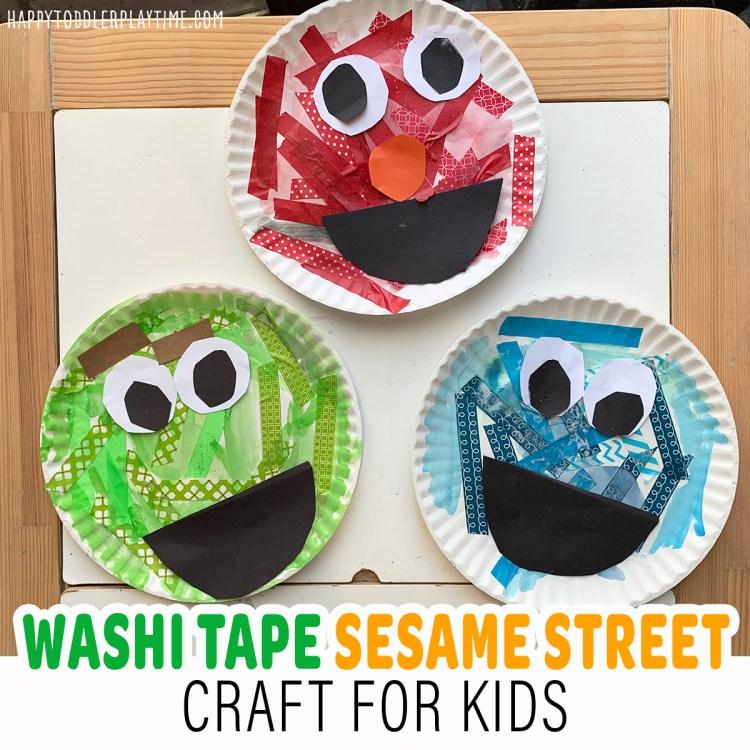 Washi Tape Sesame Street Character Craft