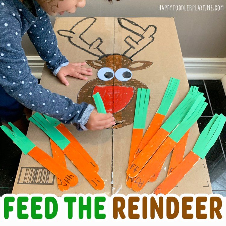 Feed the Reindeer Literacy Game