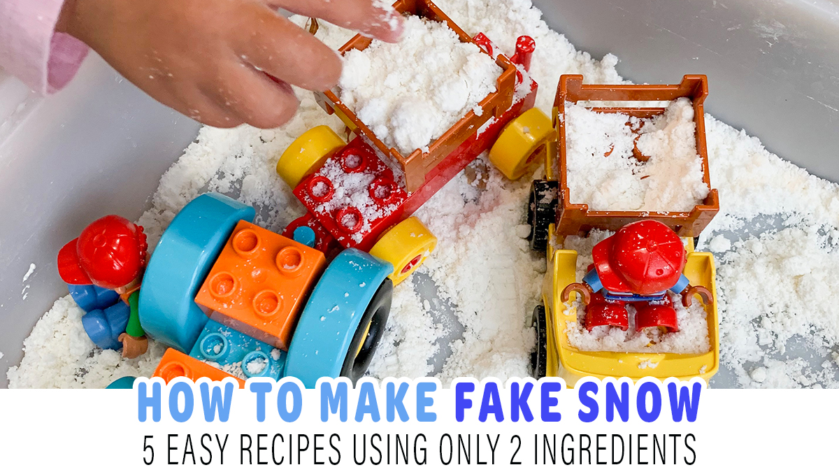 How to Make Fake Snow with 2 Ingredients