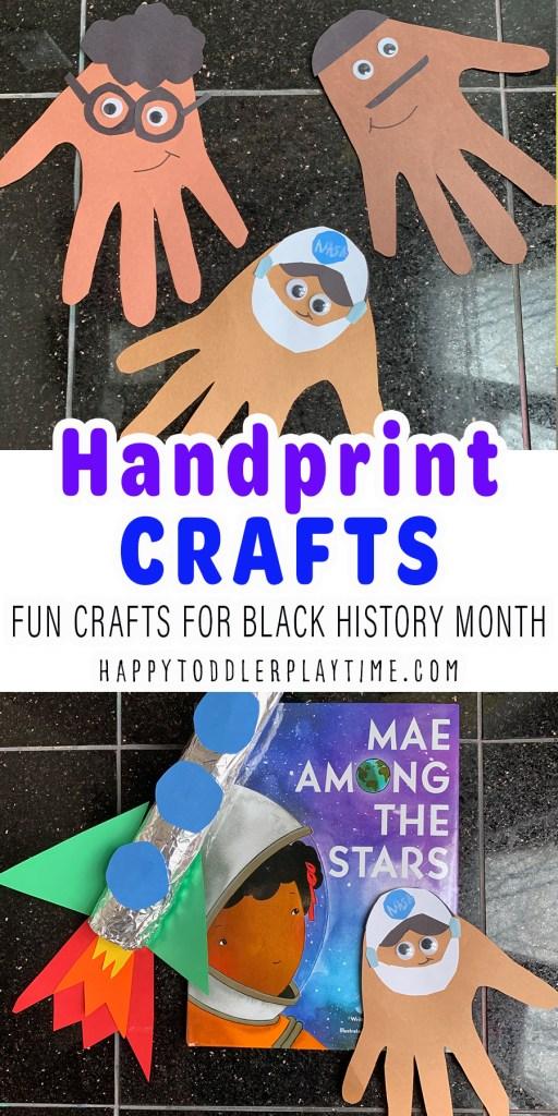Handprint Crafts for Black History Month