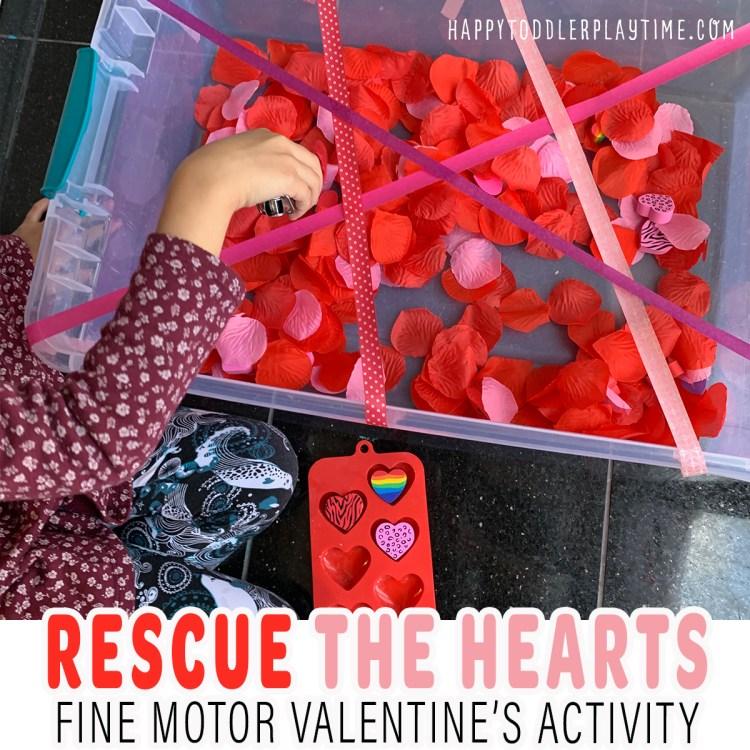 Rescue the Hearts: Fine Motor Activity