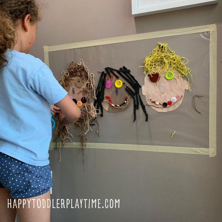 Family Portrait Sticky Wall