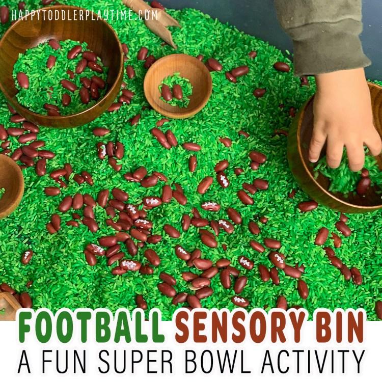 Super Bowl Football Sensory Bin
