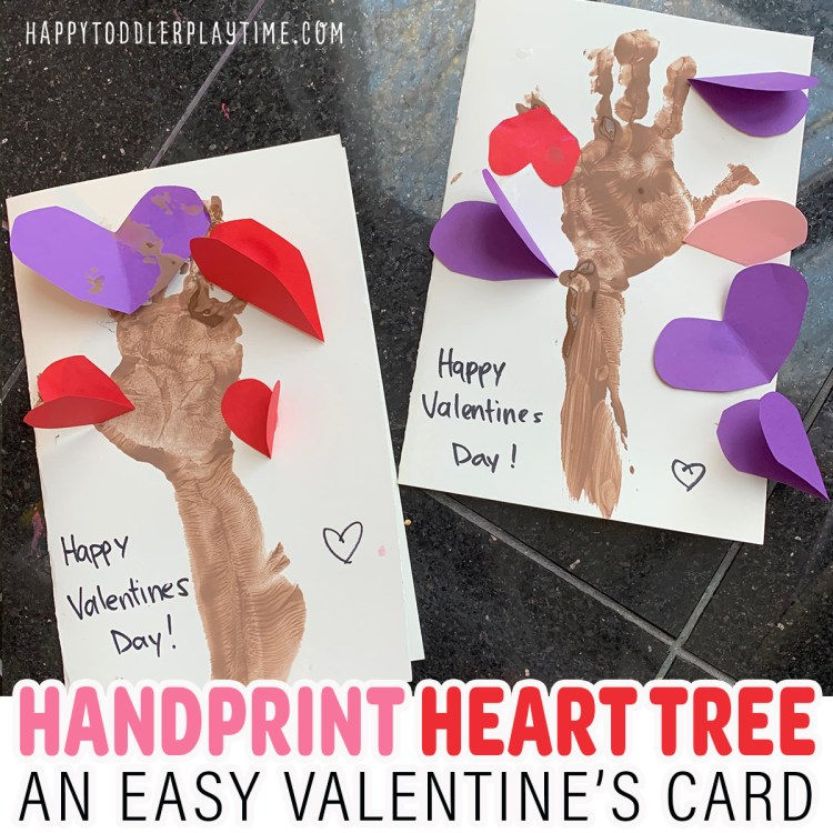 Handprint Heart Tree Craft for Valentine's Day