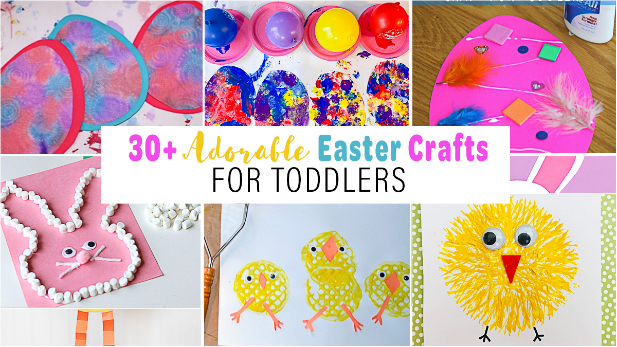 32+ Easy & Adorable Easter Crafts for Toddlers & Preschoolers ...