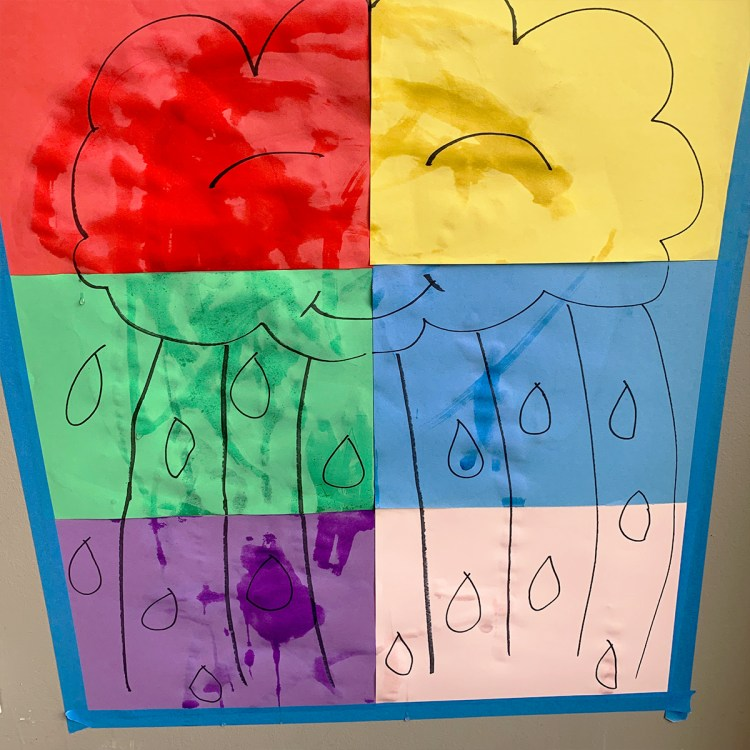 Rain Painting with Water: An Easy Spring Activity