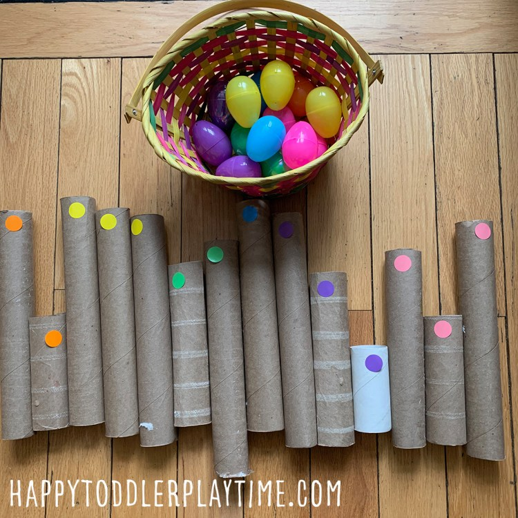Easter Egg Colour Sort ACTIVITY for toddlers and preschoolers