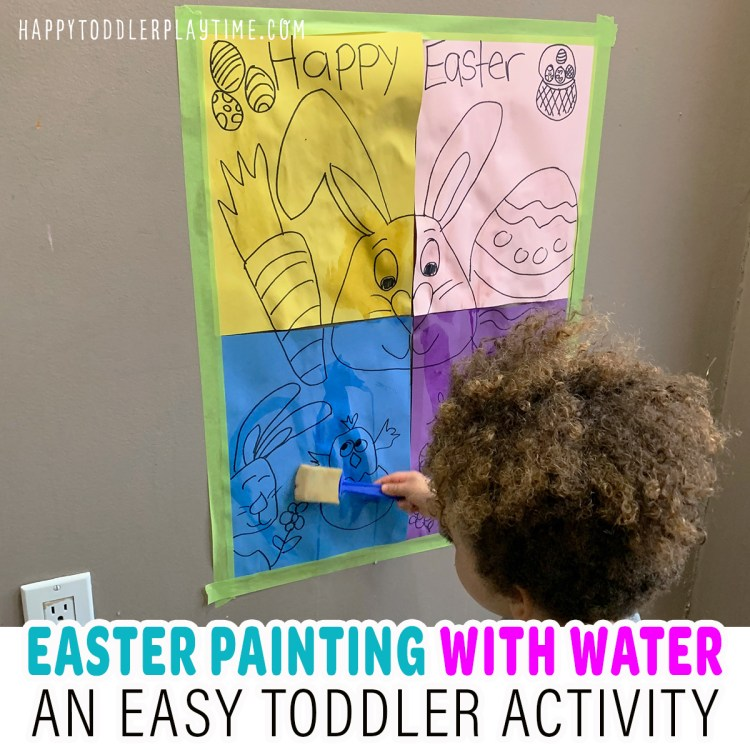 Easy Easter Painting with Water Toddler Activity