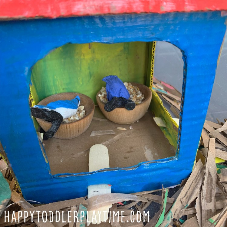 Beautiful Birds Sensory Bin for Kids