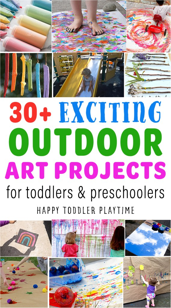 30+ Fun & Creative Outdoor Art Projects for Kids