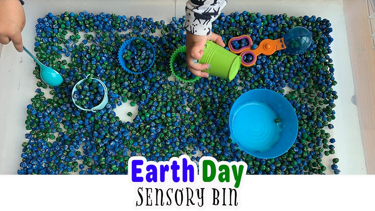Easy Earth Day Sensory Bin
