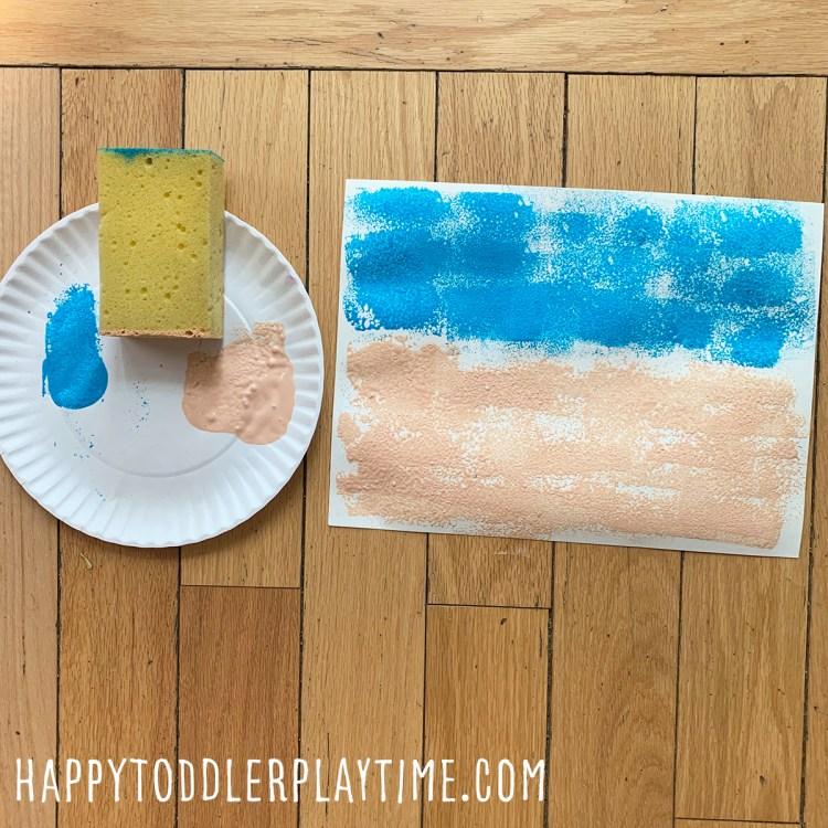 Sandpaper Sandcastle Craft for Kids