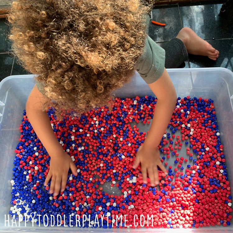 Juneteenth Sensory Bin is a fun and easy sensory bin activity for toddlers and preschoolers to celebrate Juneteenth.
