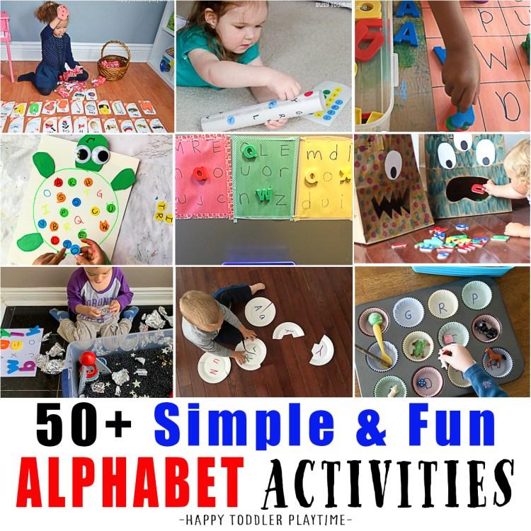 alphabet activities for preschoolers