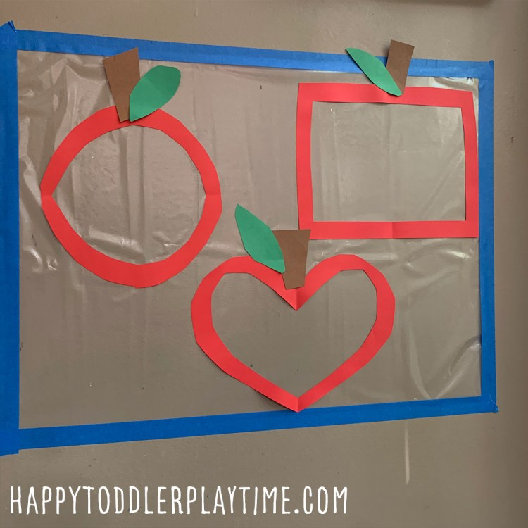 Apple Shape Sorting Sticky Wall