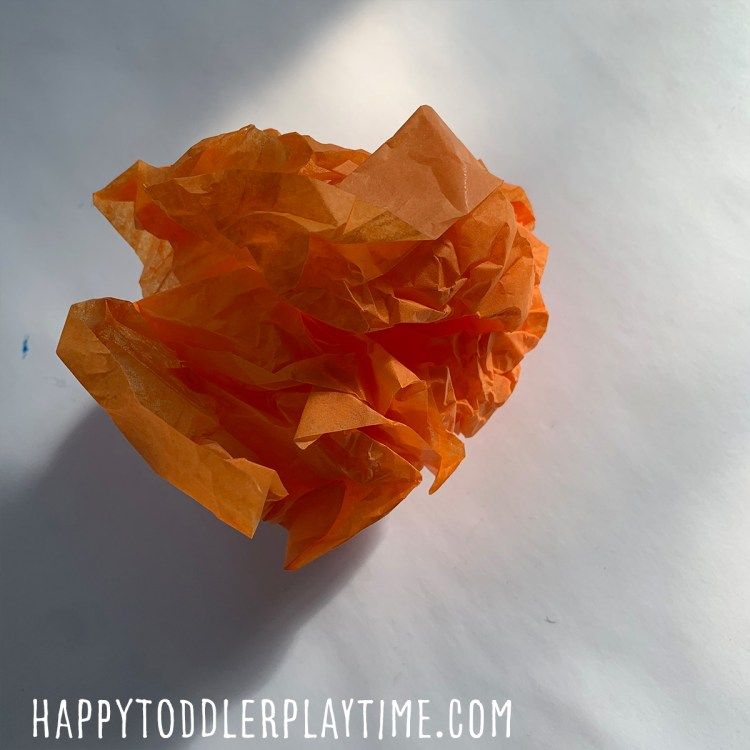 Scrunched Paper Pumpkin Craft