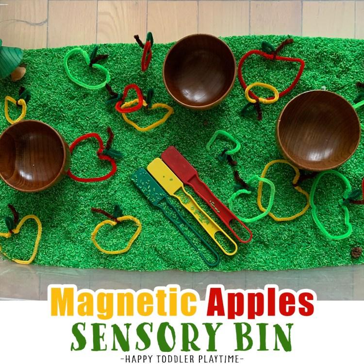 Magnetic Apple Sorting Sensory Bin