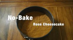 No-Bake Rose Cheesecake