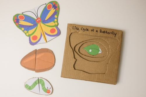 The Very Hungry caterpillar DIY cardboard puzzle