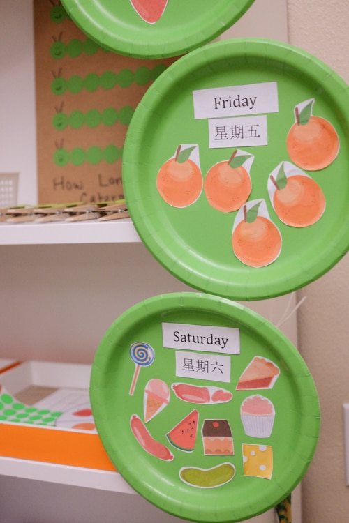 The Very Hungry caterpillar Food and Days of the Week activity & The Very Hungry Caterpillar Learning Activities \u0026 Shelf - Happy Tot ...