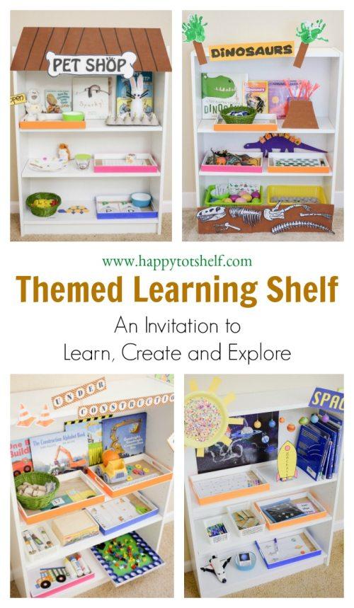 theme based learning shelf