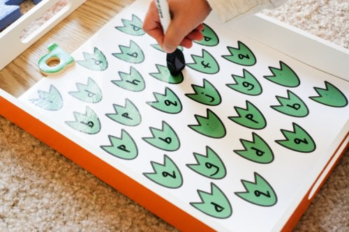 Letter D search dinosaur theme activity for toddlers