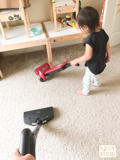 Kid doing housework