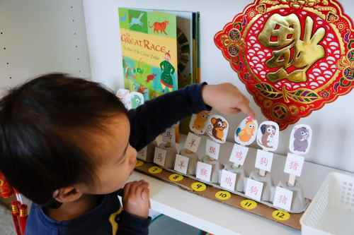 pretend play with the puppets and learn the names of the 12 animals in the chinese zodiac sign at the same time language motor skills discovery of the