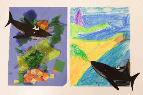 Artworks inspired by the book The Snail and the Whale