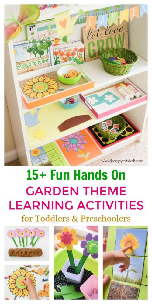 Garden Theme learning activities for preschoolers and toddlers