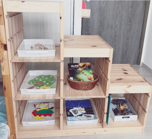 home learning shelf