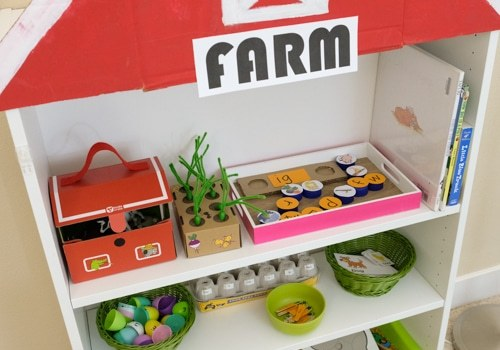 Farm Theme Learning Activities and Learning Shelf