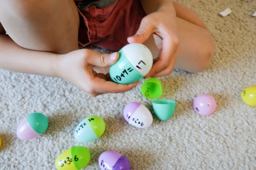 Easter eggs addition activity