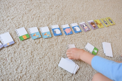 Farm animals card game
