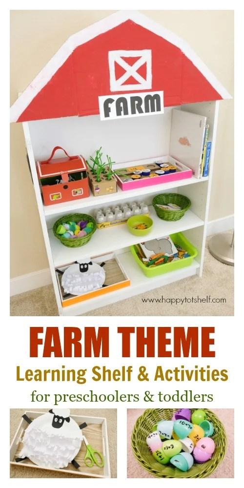 Farm theme Learning Shelf