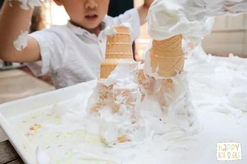 Castle theme sensory play